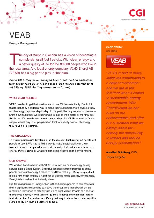 Case Study – VEAB – Energy Management