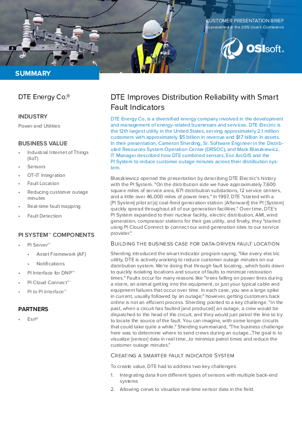 DTE Improves Distribution Reliability with Smart Fault Indicators
