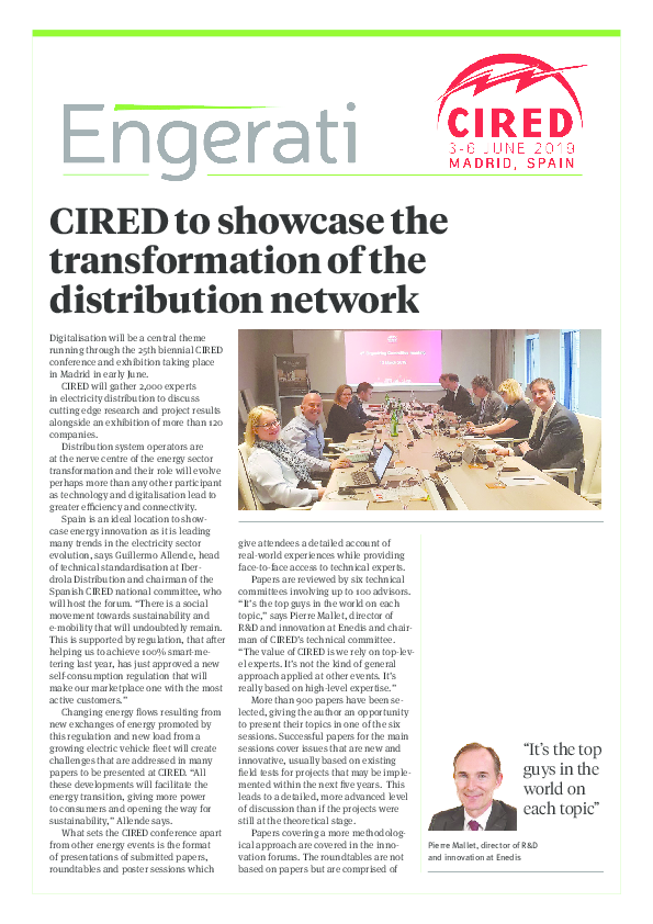 CIRED to showcase the transformation of the distribution network