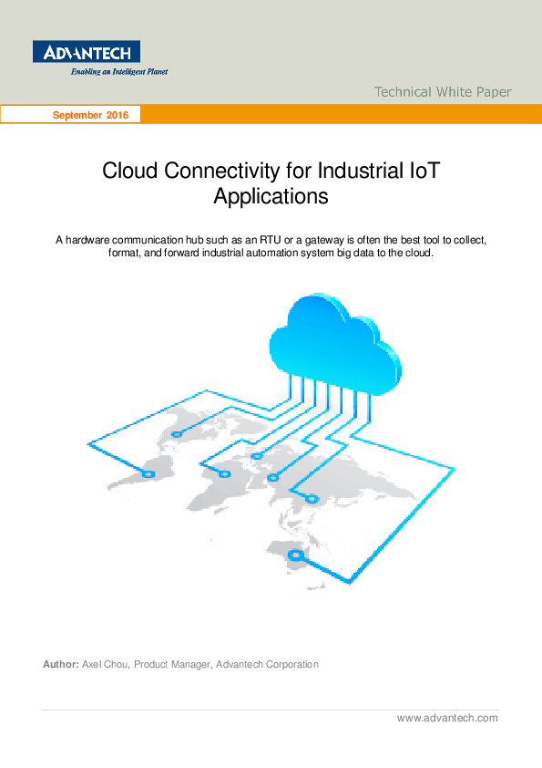 Cloud Connectivity for Industrial IoT Applications