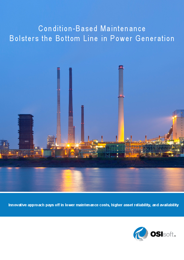 Condition-Based Maintenance Bolsters the Bottom Line in Power Generation