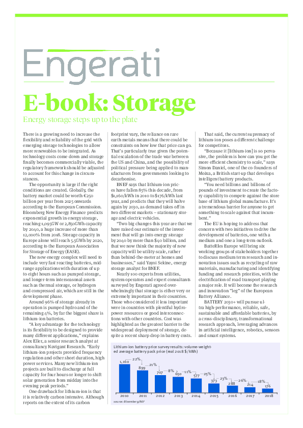 E-Book: Energy storage