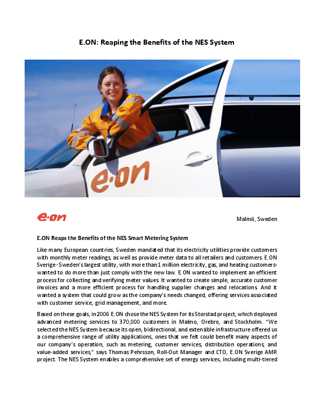 E.ON Reaps the Benefits of the NES Smart Metering System