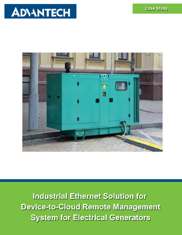 Industrial Ethernet Solution for Device-to-Cloud Remote Management System for Electric Generators