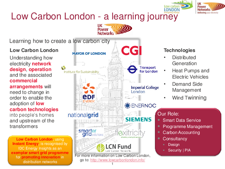 Case Study – UKPN – Low Carbon London