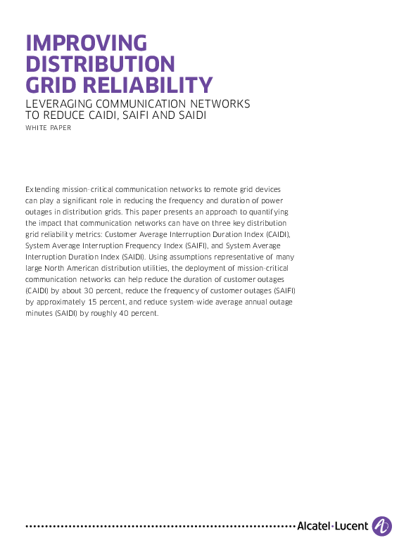 Impact of Communications on Grid Reliability