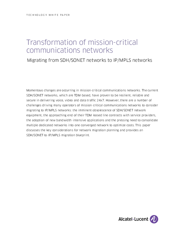 Transformation of mission-critical communications networks