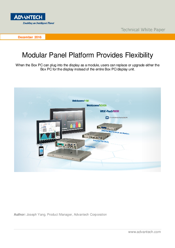 Advantech's Modular Panel Platform Provides Flexibility White Paper