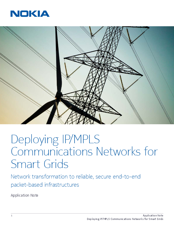 Deploying IP/MPLS Communications Networks for Smart Grid
