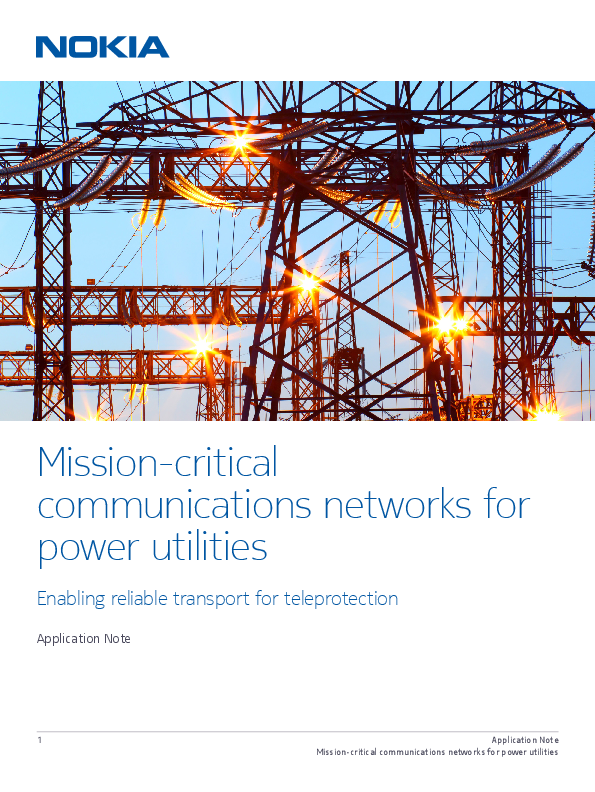 Mission-critical communications networks for power utilities