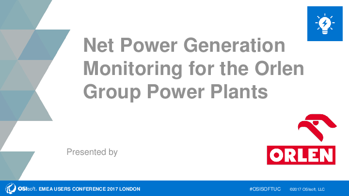 Net Power Generation Monitoring for the Orlen Group Power Plants