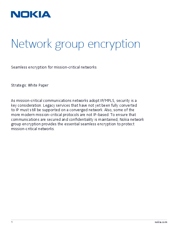 Network Group Encryption