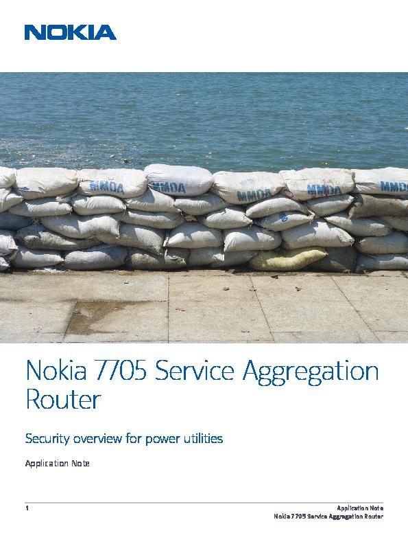 Nokia 7705 Service Aggregation Router