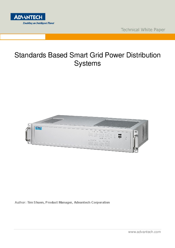 Standards Based Smart Grid Power Distribution Systems White Paper