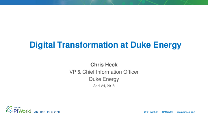 Digital Transformation at Duke Energy