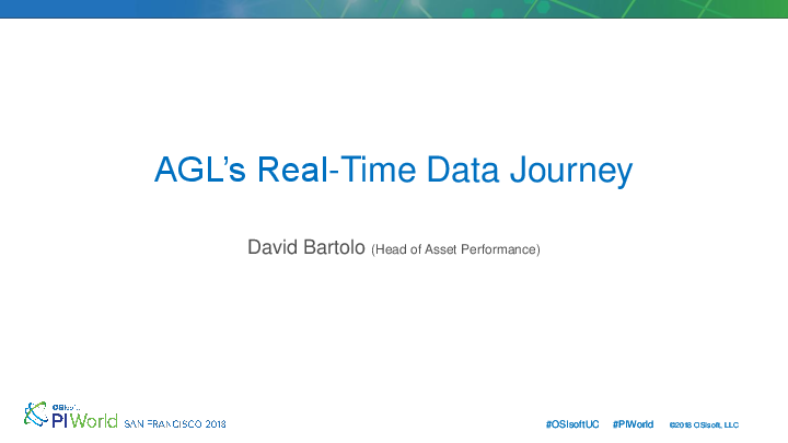 AGL's Real-Time Data Journey