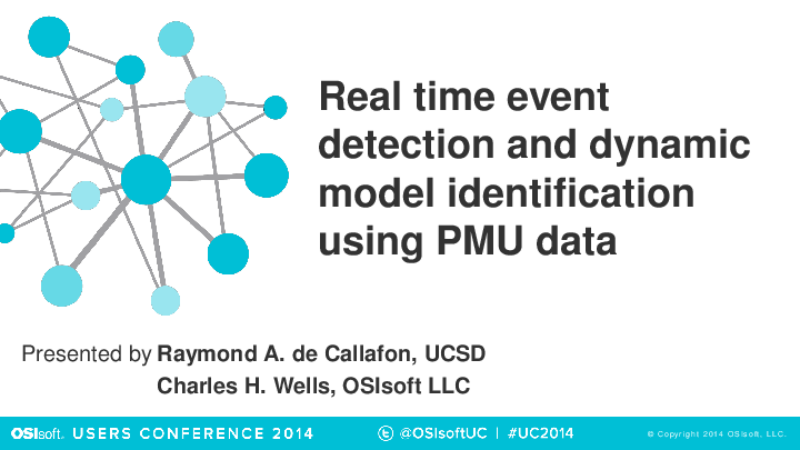 Real-time Event Detection of Microgrid Dynamics – The University of California, San Diego